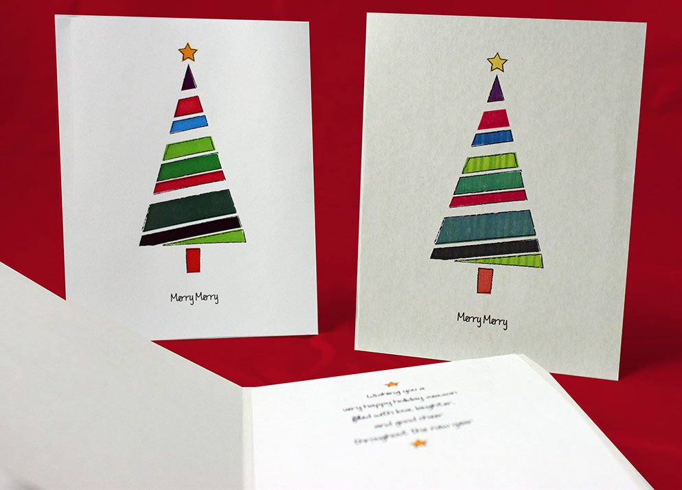 13 easy diy christmas cards free printable 1 more for Easy diy christmas cards