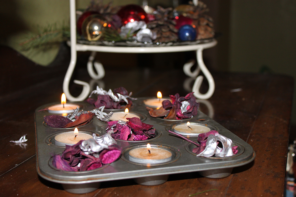 Green Christmas: Re-purposed & natural decorations