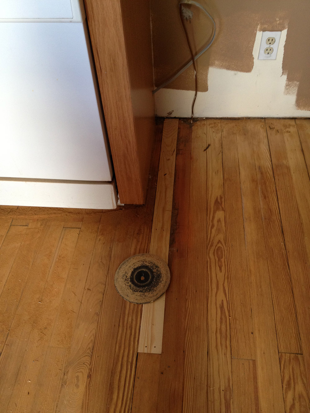 Replacing Hardwood Floor Boards ~ Mudroom renovation hardwood floors refinished more
