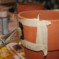 Transform Old Terracotta Pots with Chalkboard Paint