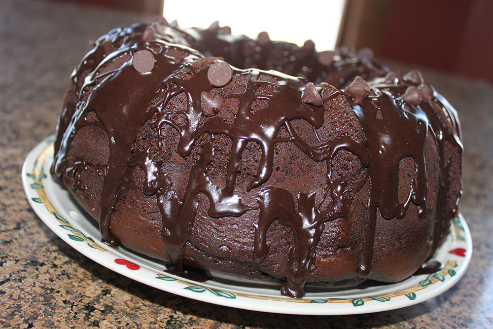 Easy Chocolate Pudding Cake With Chocolate Glaze Recipe 1