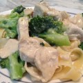 Homemade Broccoli and Chicken Alfredo