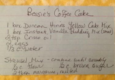 Easy instant coffee cake recipe