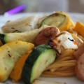 Easy Summer Grill Wok Garden Vegetables and Chicken Sausage Recipe