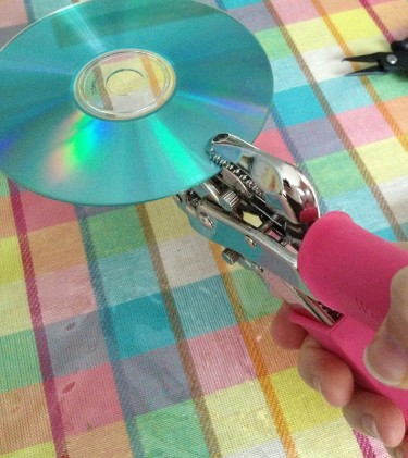 Punching a hole in the CD