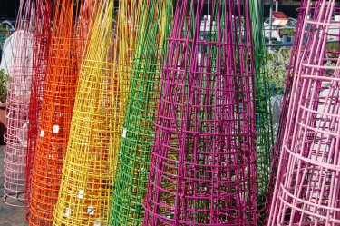 Rainbow of Tomato Cages