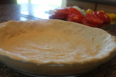 Rustic Garden Tomato Pie with Easy Pie Dough Recipe 1 More Than 2