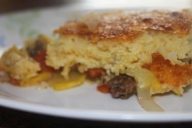 Cornbread-Topped Mexican Squash Casserole