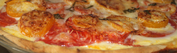 Rustic Garden Tomato Pie with Easy Pie Crust