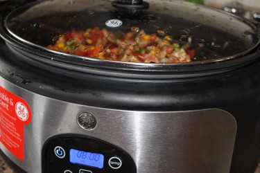 Easy to make Crock-pot chili loaded with healthy and tasty vegetables.