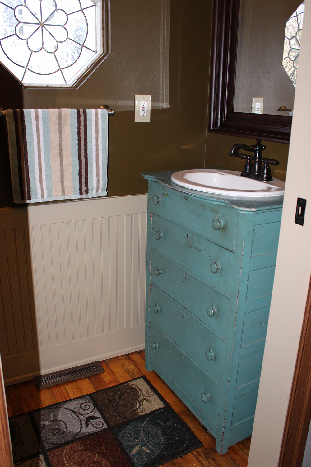 Mudroom Renovation Old Dresser Re Purposed Into A