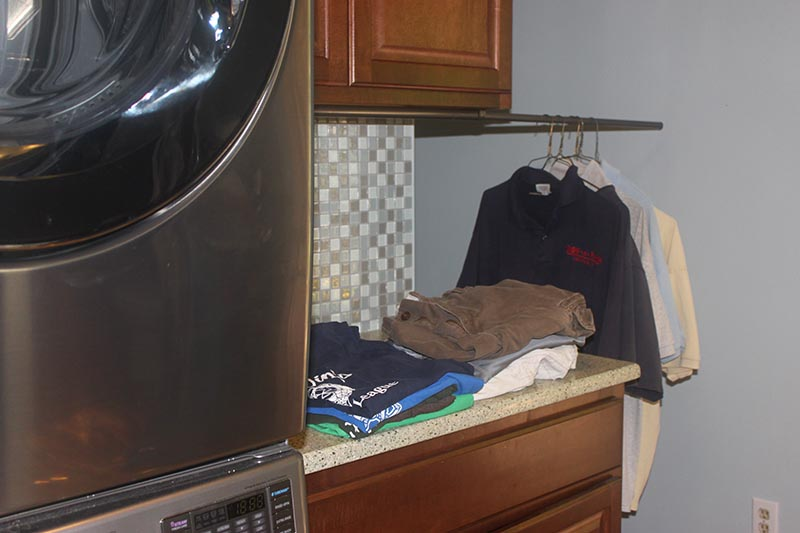 Cheap Diy Clothes Rack Laundry Room Pull Out Clothes
